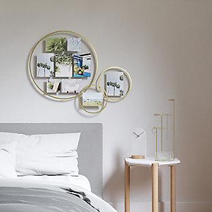 UMBRA Brass Wall Float Mirror, , rollover