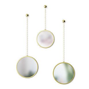 UMBRA 3 Round Brass Mirrors, , large