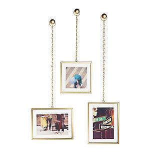 UMBRA Brass Rectangular Hanging Frames, , large