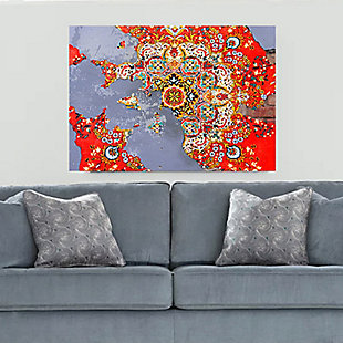 """PAF 40"""" x 30"""" Red and Gray Giclee on Canvas, , rollover"""