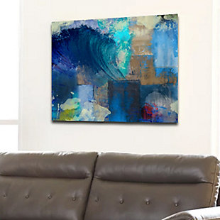 """PAF 40"""" x 30"""" Blue and Teal Giclee on Canvas, , rollover"""