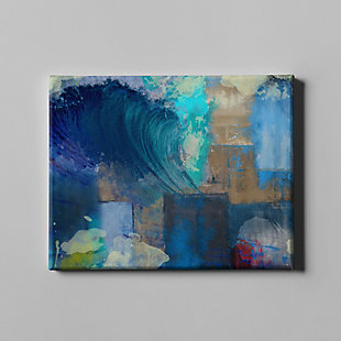 """PAF 40"""" x 30"""" Blue and Teal Giclee on Canvas, , large"""