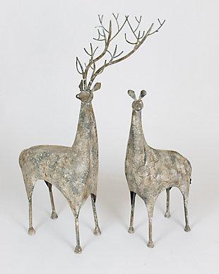Holiday Set of Two Metal Deer, , large