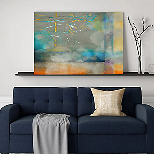 """PAF 40"""" x 30"""" Blue and Gray Giclee on Canvas, , rollover"""