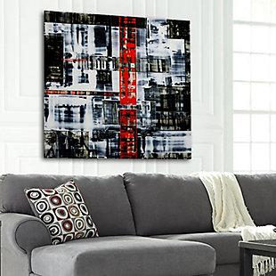 """PAF 30"""" x 30"""" Black and Red Reverse Printed Acrylic, , rollover"""