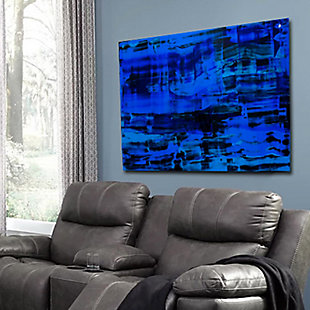 """PAF 48"""" x 32"""" Black and Blue Reverse Printed Acrylic, , rollover"""
