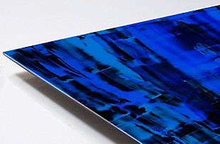 """PAF 48"""" x 32"""" Black and Blue Reverse Printed Acrylic, , large"""