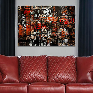 """PAF 48"""" x 32"""" Black and Red Reverse Printed Acrylic, , rollover"""