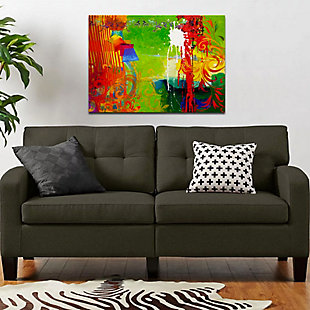 """PAF 54"""" x 38"""" Green and Red Giclee on Canvas, , rollover"""