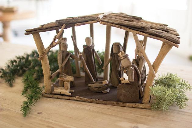 Holiday Driftwood Nativity, , large