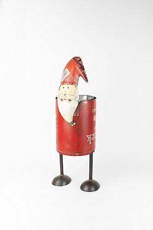 Holiday Recycled Iron Santa Cooler, , large