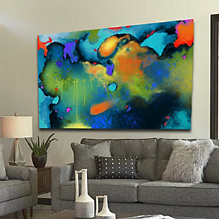 """PAF 54"""" x 38"""" Teal and Orange Giclee on Canvas, , rollover"""