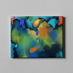 """PAF 54"""" x 38"""" Teal and Orange Giclee on Canvas, , large"""