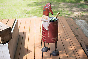 Holiday Recycled Iron Santa Cooler, , large