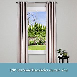 "Kenney Benji 5/8""  Decorative Window Curtain Rod, 48-86"", Bronze, large"