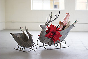 Holiday Set of 2 Deer Sleighs, , rollover