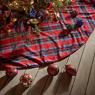 Holiday Tartan Plaid Tree Skirt, , rollover