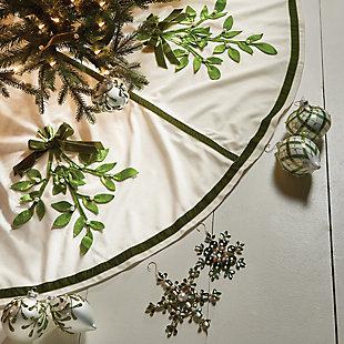 Holiday Mistletoe Tree Skirt, , rollover