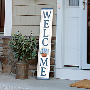 Hydrangea Basket Welcome Porch Board, , rollover