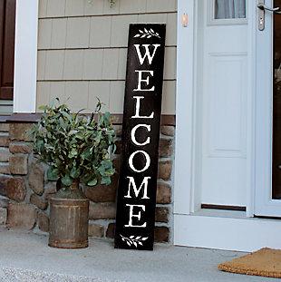 Black Welcome Porch Board, , rollover
