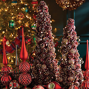 Holiday Jewel Pine Cone Topiary, , rollover