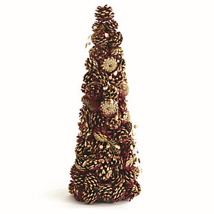 Holiday Jewel Pine Cone Topiary, , large