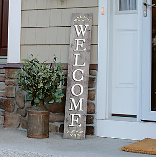 Light Gray Welcome Porch Board, , rollover