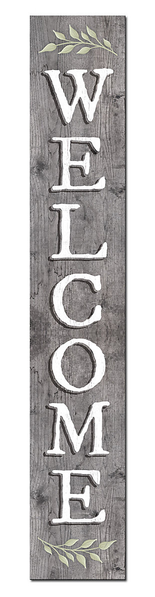 Light Gray Welcome Porch Board, , large