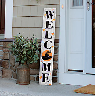 Halloween Welcome Porch Board with Witch Hat, , rollover