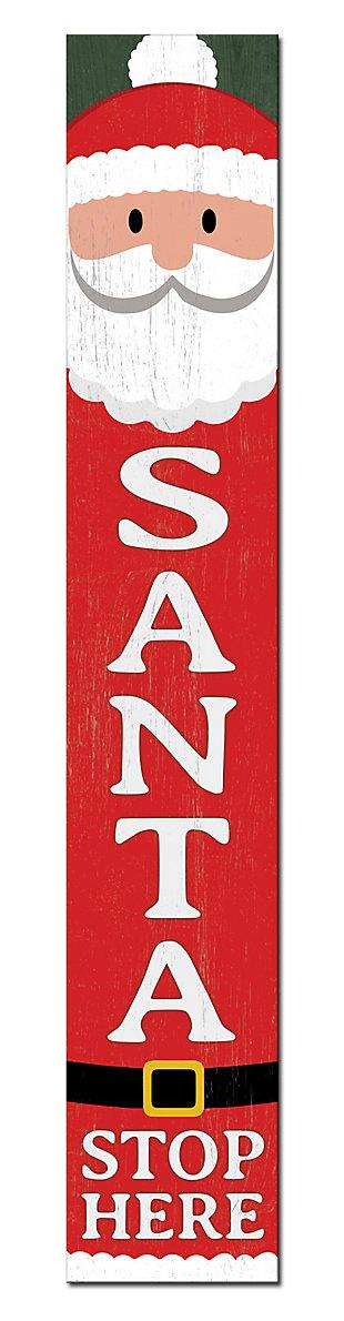 Santa Stops Here Porch Board, , large