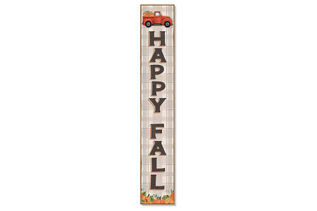 Happy Fall Porch Board with Truck, , large