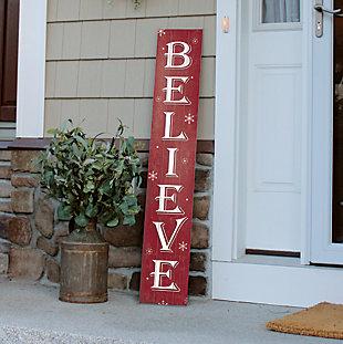 Red Believe Porch Board, , rollover