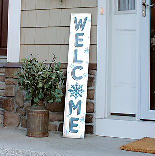 Welcome Porch Board with Snowflake, , rollover