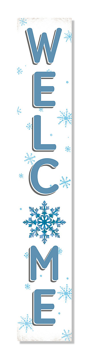 Welcome Porch Board with Snowflake, , large