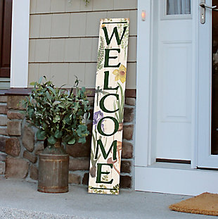 Welcome Porch Sign with Botanicals, , rollover