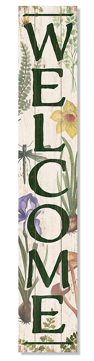 Welcome Porch Sign with Botanicals, , large