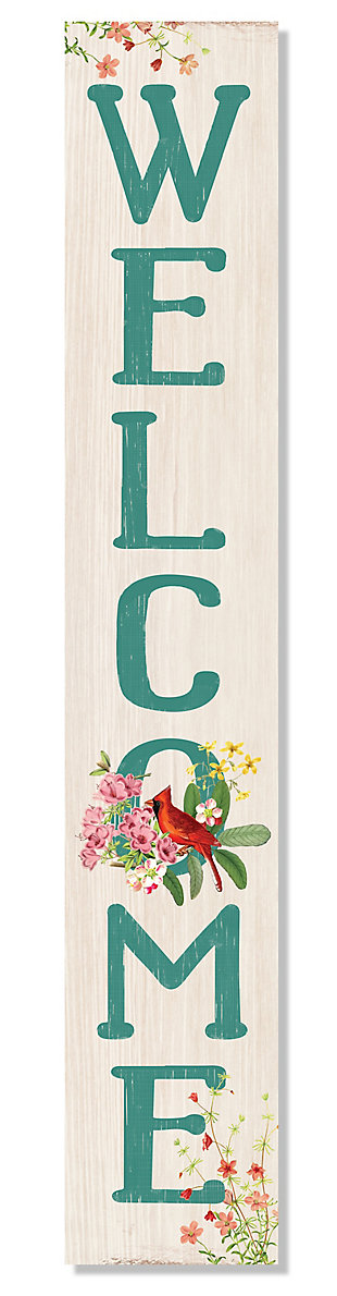 Welcome Porch Sign with Cardinal, , large