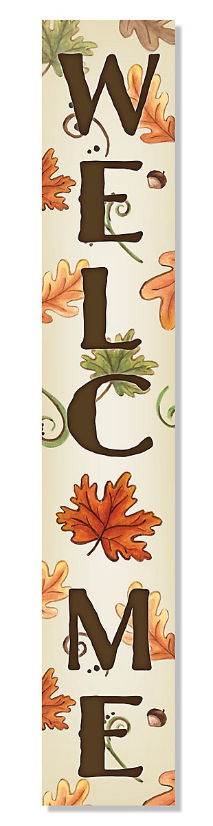 Fall Welcome Porch Board with Leaves and Acorns, , large