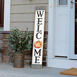 Fall Welcome Porch Board with Pumpkin, , rollover