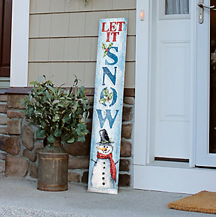 Let it Snow Porch Board with Snowman, , rollover