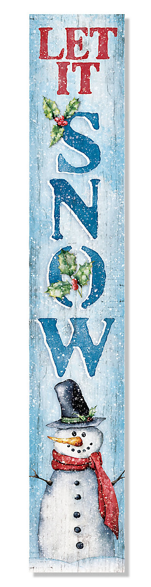 Let it Snow Porch Board with Snowman, , large