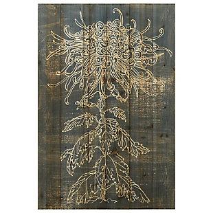 Empire Art Direct Flower I Arte de Legno Digital Print on Solid Wood Wall Art, , large