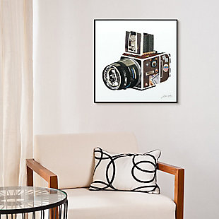 "Empire Art Direct ""SLR Camera"" Printed Art Glass Framed with Black Frame, , rollover"