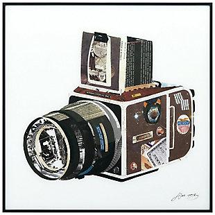 "Empire Art Direct ""SLR Camera"" Printed Art Glass Framed with Black Frame, , large"