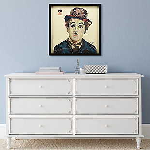 """Empire Art Direct """"Charlie"""" Collage Framed Graphic Art Under Glass Wall Art, , rollover"""