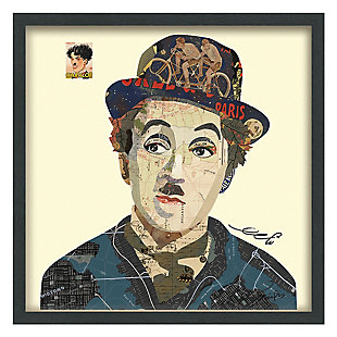 """Empire Art Direct """"Charlie"""" Collage Framed Graphic Art Under Glass Wall Art, , large"""