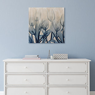 Empire Art Direct Blue Tulip Wall Art X-Ray Photo Print on Hand Finished Wood, , rollover