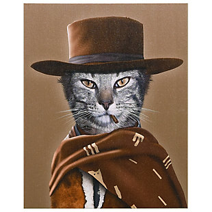 """Empire Art Direct """"Western"""" Graphic Art on Wrapped Canvas Wall Art, , large"""