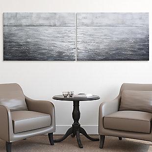 Empire Art Direct Silver Light Textured Metallic Hand Painted Wall Art, , rollover