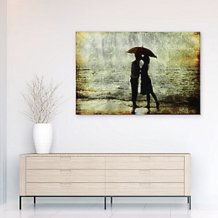 Empire Art Direct Goodbye Kiss Tempered Glass Wall Art with Silver Leaf, , rollover